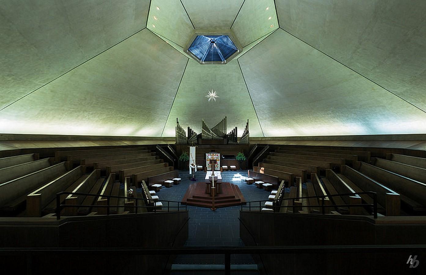 North Christian Church by Eero Saarinen: Church inspired from Angkor Wat and Borobudur - Sheet9
