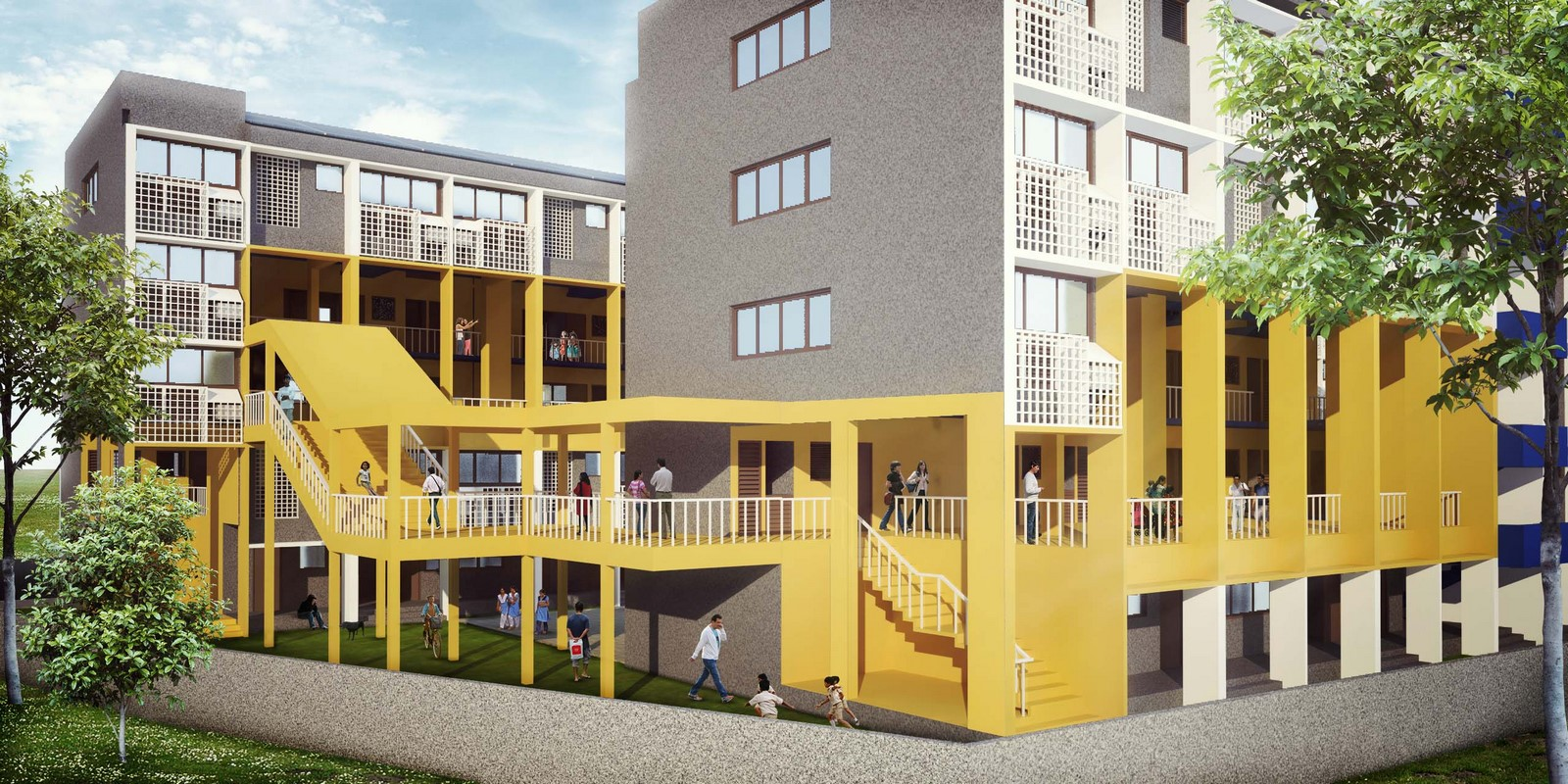 10 Examples of Affordable Housing Designs in India Sheet15