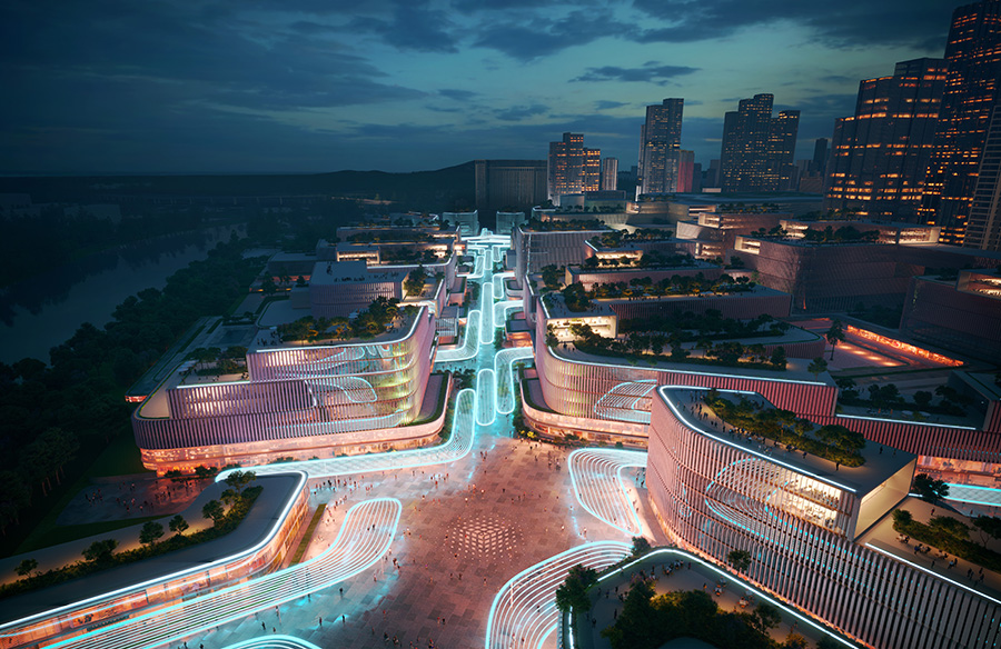 Huanggang Port Area masterplan by Zaha Hadid Architects