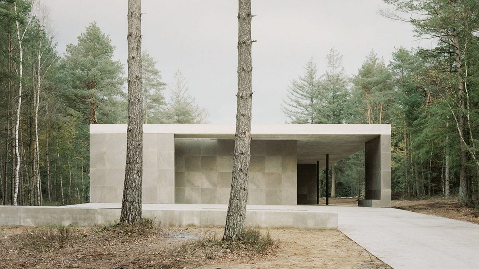 Serene Loenen Pavilion Commemorating Dutch Victims Among Pine Trees built by KAAN Architecten - Sheet1