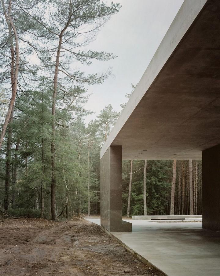 Serene Loenen Pavilion Commemorating Dutch Victims Among Pine Trees built by KAAN Architecten - Sheet2