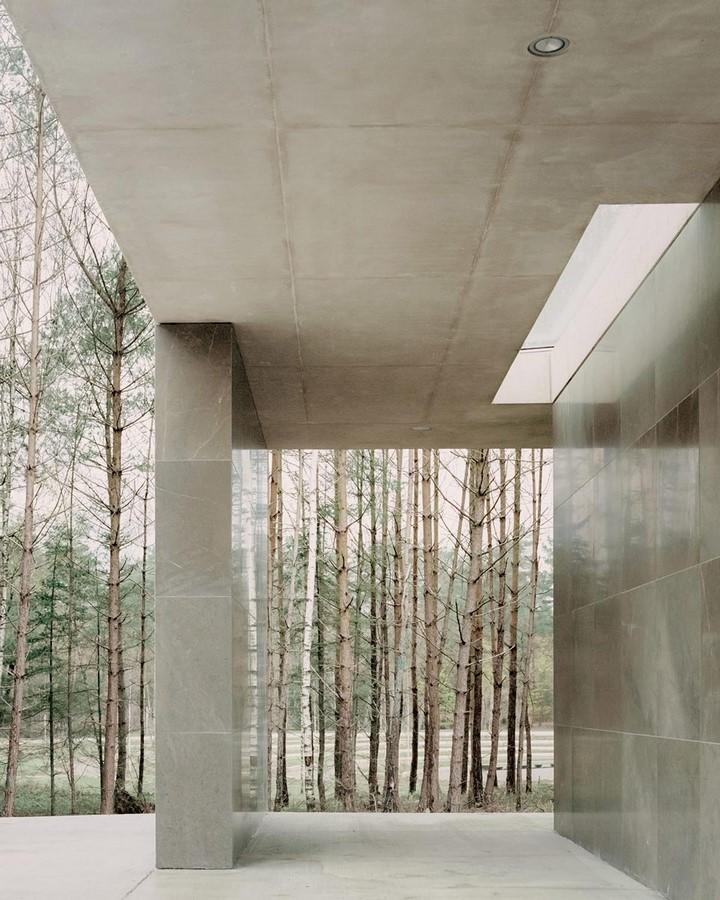 Serene Loenen Pavilion Commemorating Dutch Victims Among Pine Trees built by KAAN Architecten - Sheet4
