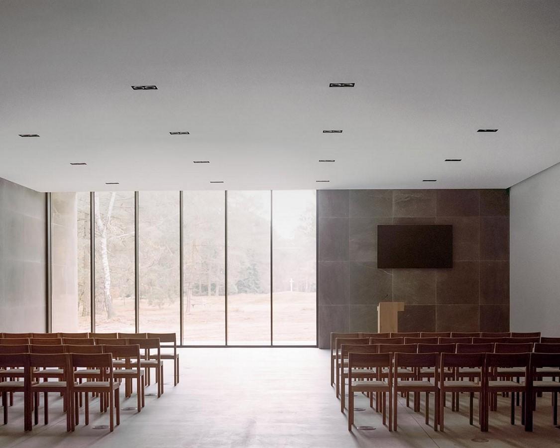 Serene Loenen Pavilion Commemorating Dutch Victims Among Pine Trees built by KAAN Architecten - Sheet5