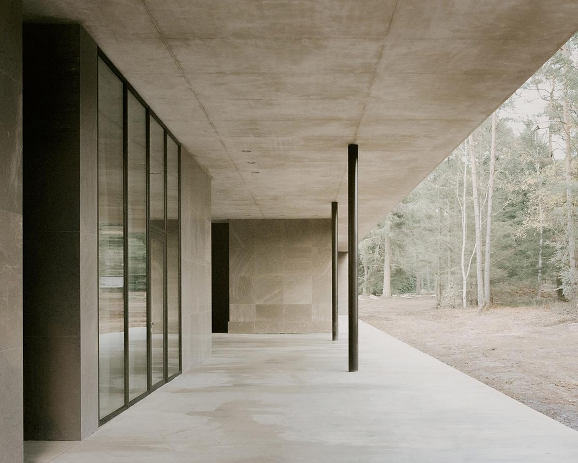 Serene Loenen Pavilion Commemorating Dutch Victims Among Pine Trees built by KAAN Architecten - Sheet7
