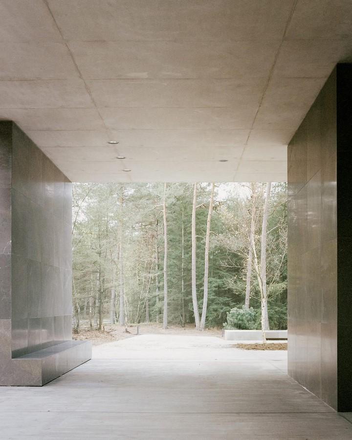 Serene Loenen Pavilion Commemorating Dutch Victims Among Pine Trees built by KAAN Architecten - Sheet8