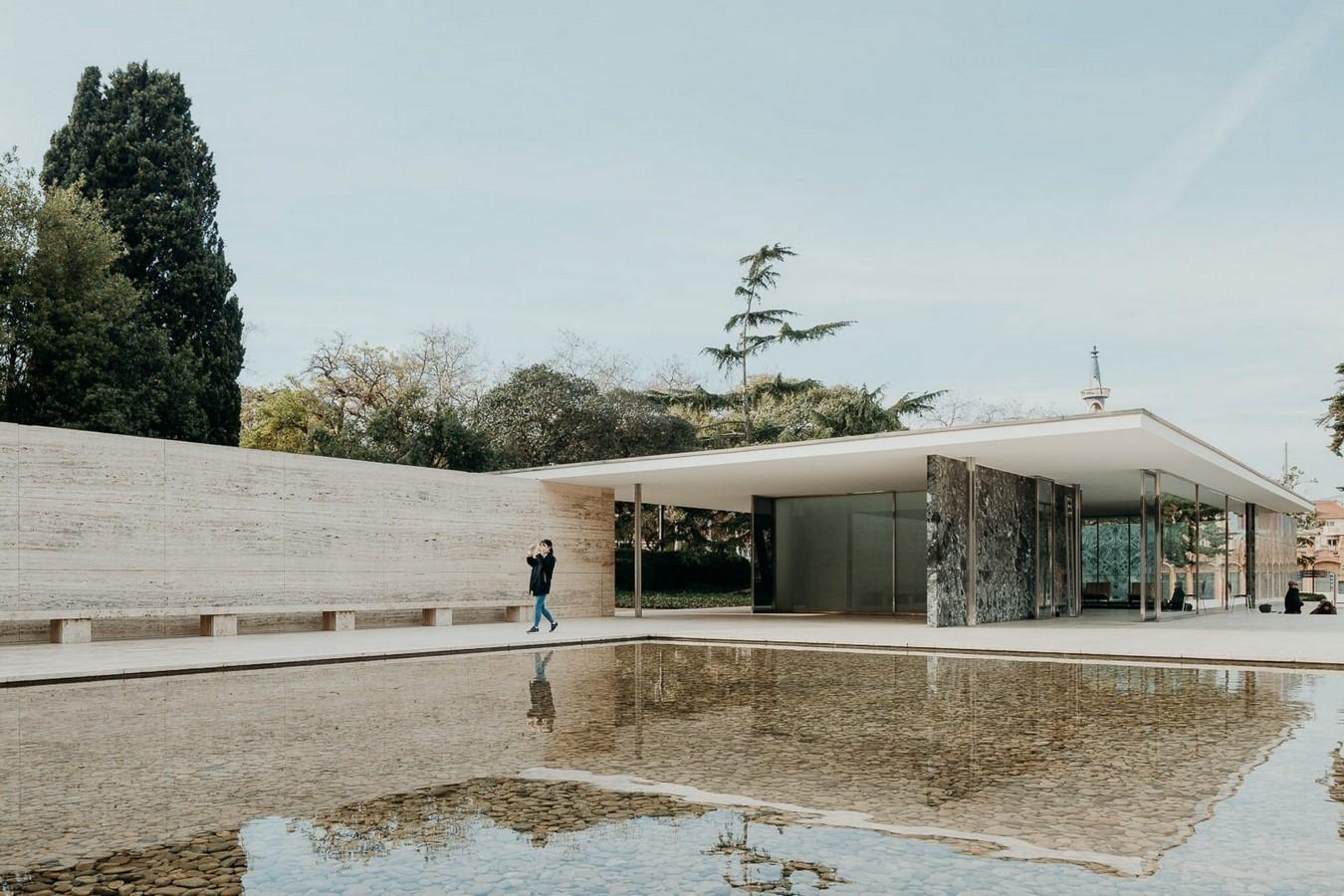 Barcelona Pavilion, Barcelona Spain by Ludwig Mies Van der Rohe -Sheet1