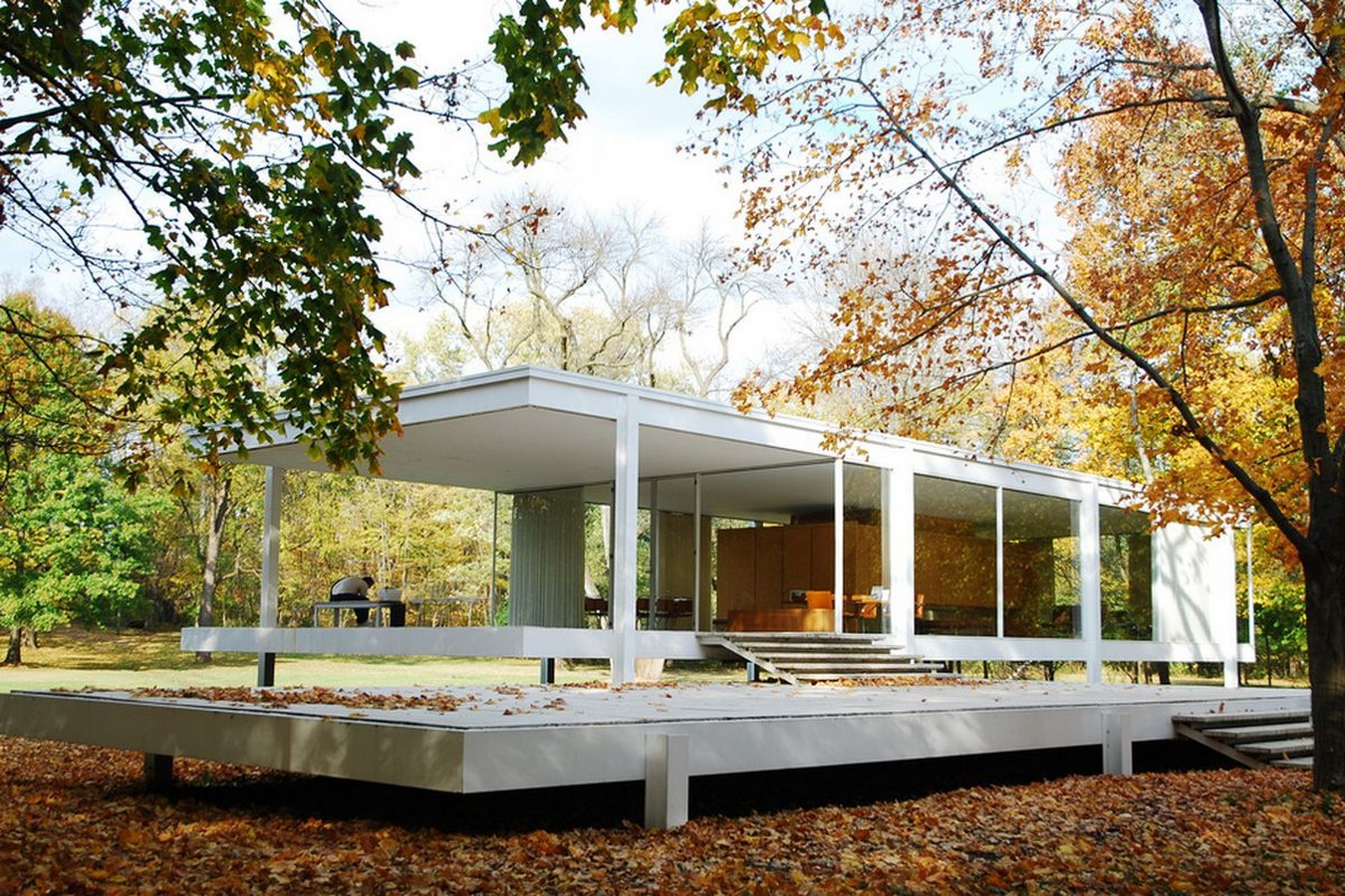 Farnsworth House, Illinois, Chicago, USA by Mies Van der Rohe - Sheet2
