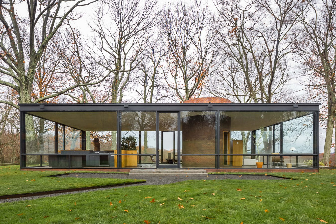 Glass House, Connecticut, USA by Philip Johnson - Sheet1