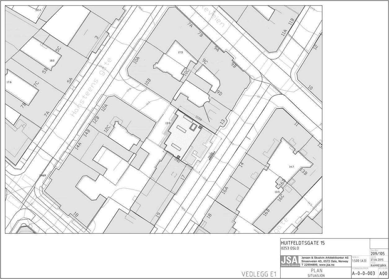 Innfill housing – Huitfeldts gate 15 - Sheet1