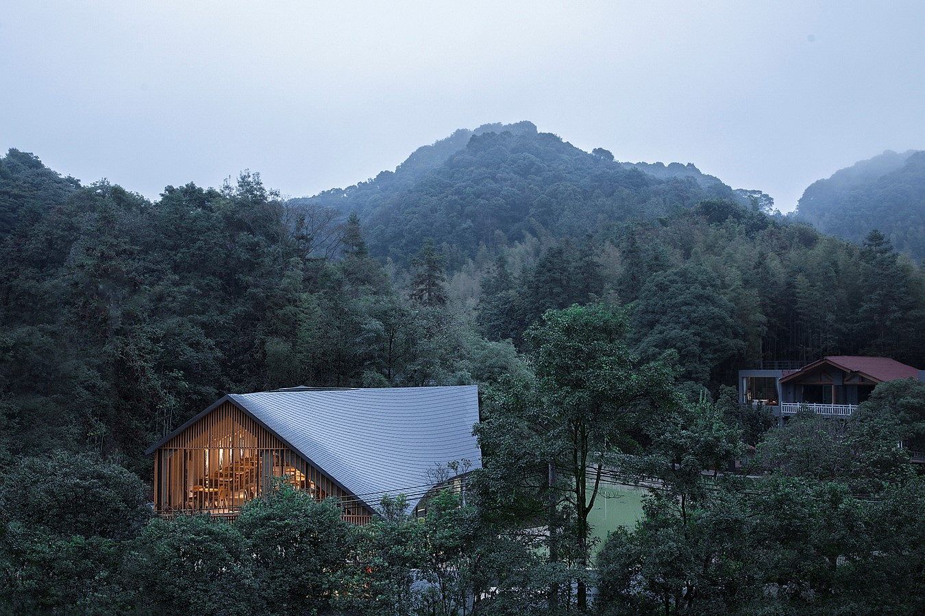 Restaurant With Cave-Like Roof In A Forest In Huizhou, China completed by Wildurban Architects - Sheet3