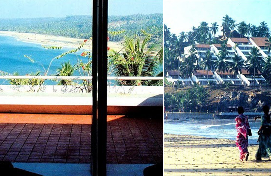 Kovalam Beach Resort by Charles Correa: Open to sky space Approach