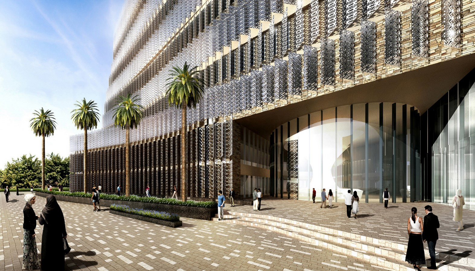 Hill county SEZ office complex in Hyderabad by SOM architects - Sheet1