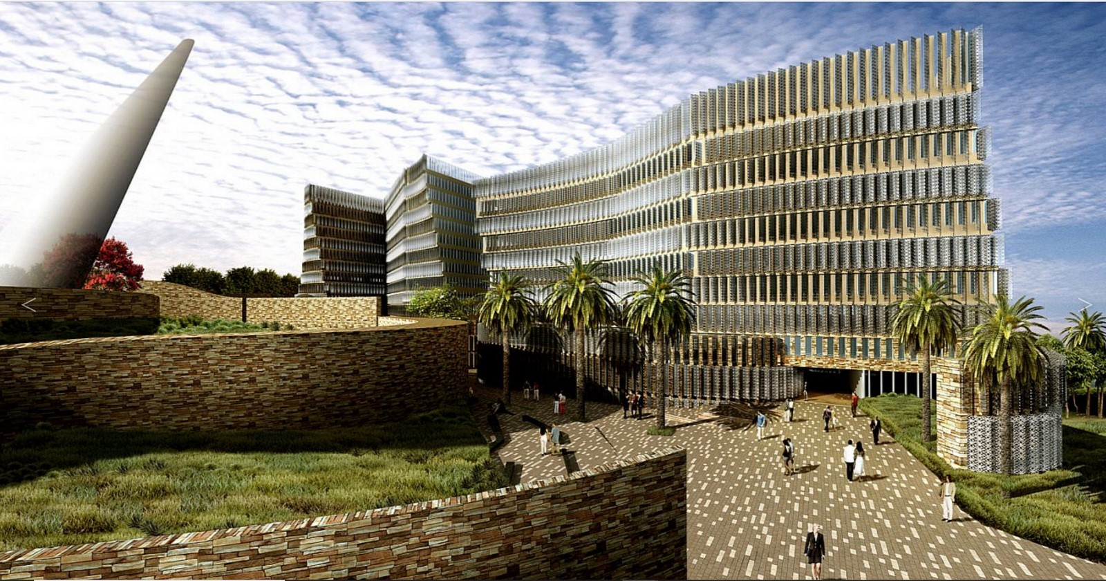 Hill county SEZ office complex in Hyderabad by SOM architects - Sheet2