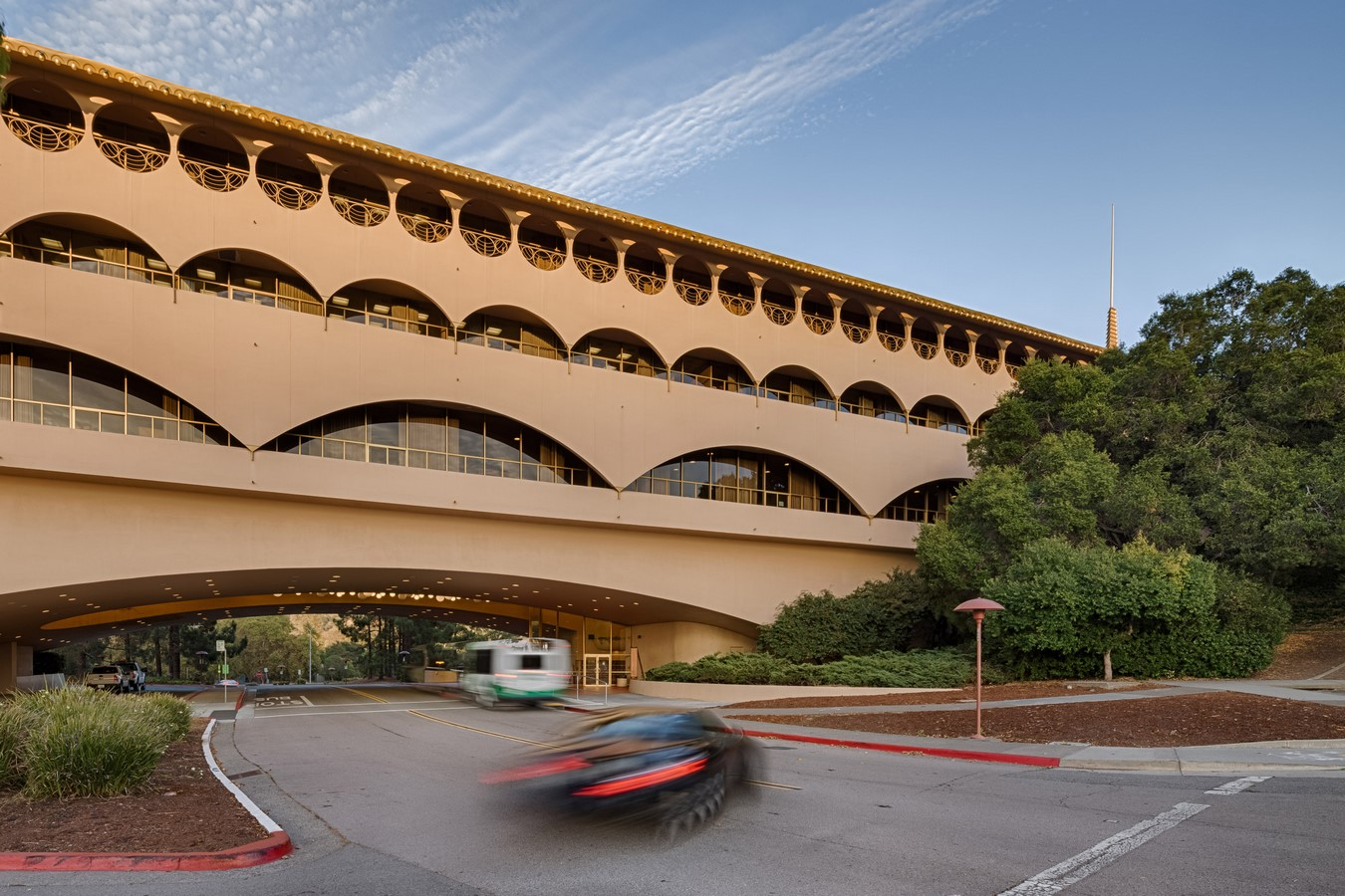 Marin County Civic Center in San Rafael, California by Ar. Frank Llyod Wright - Sheet1