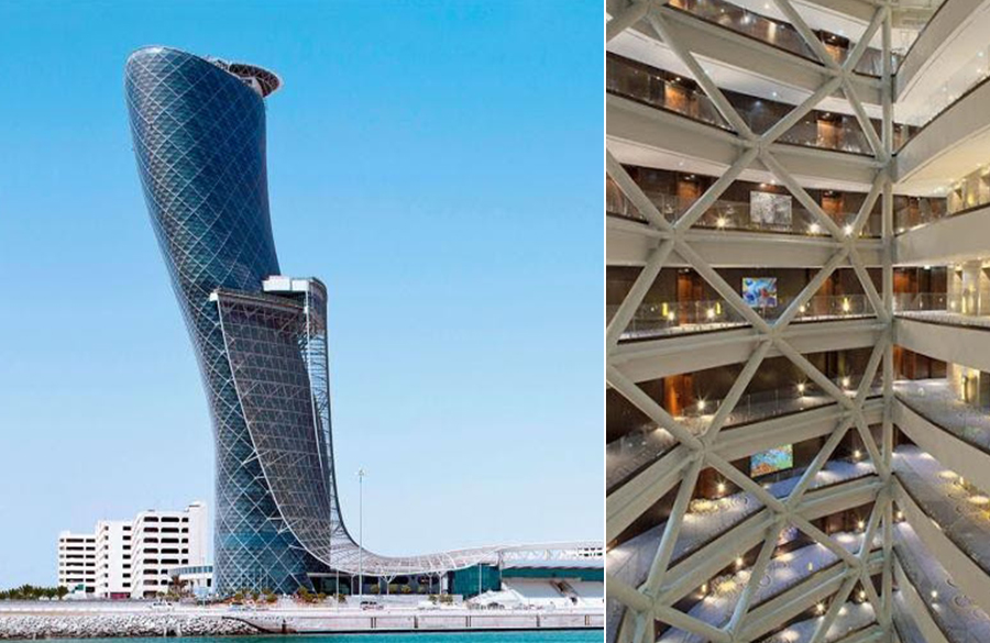 Capital Gate Tower by RMJM: A structural marvel