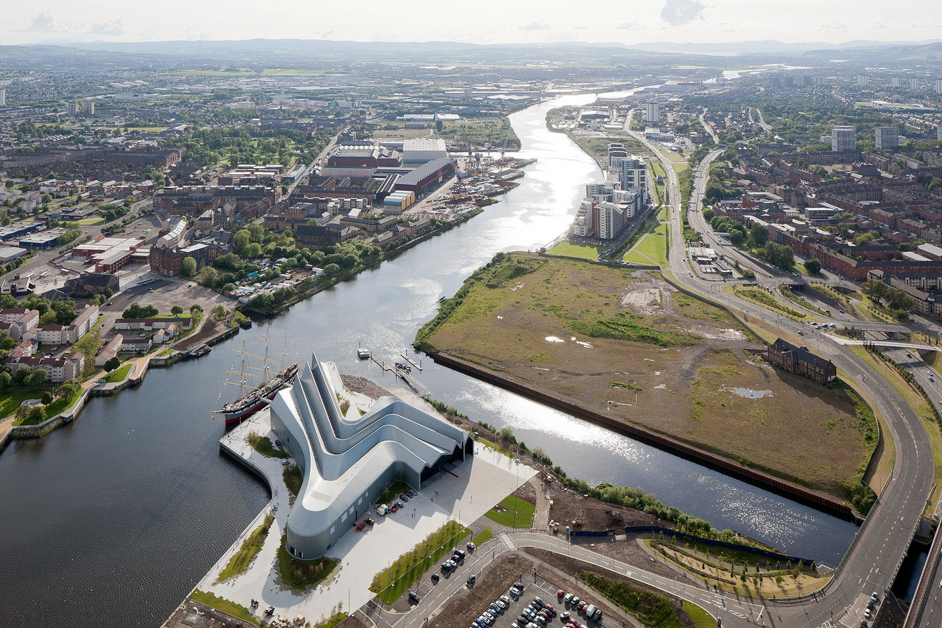 Glasgow Riverside Museum of Transport by Zaha Hadid : The Zig-Zag Profile - Sheet1