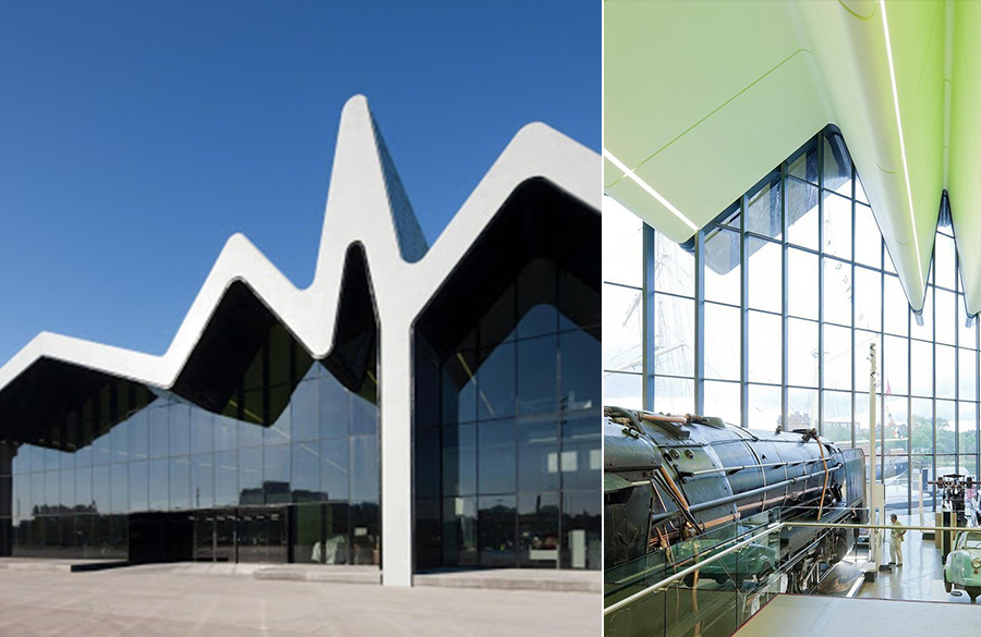 Glasgow Riverside Museum of Transport by Zaha Hadid : The Zig-Zag Profile