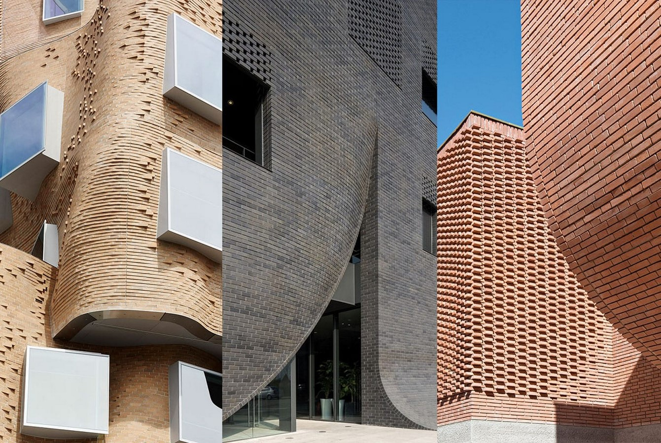 Unusual methods of using bricks in architecture -Sheet1