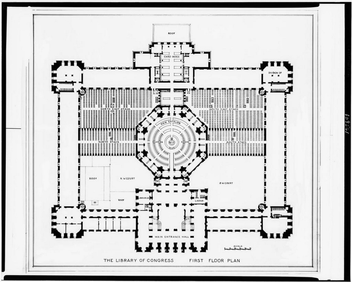 Thomas Jefferson Building: The oldest of the four United States Library - Sheet4