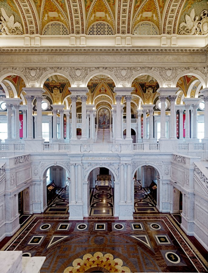 Thomas Jefferson Building: The oldest of the four United States Library - Sheet6