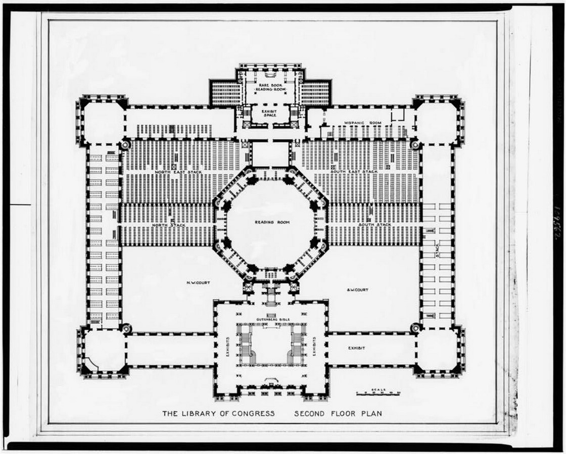 Thomas Jefferson Building: The oldest of the four United States Library - Sheet10