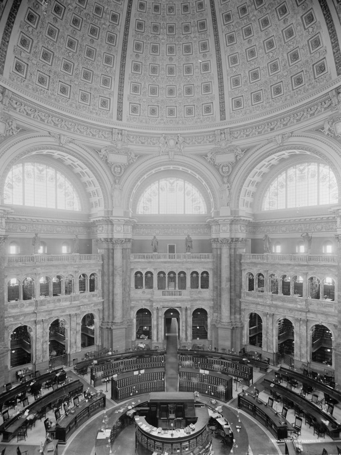 Thomas Jefferson Building: The oldest of the four United States Library - Sheet11