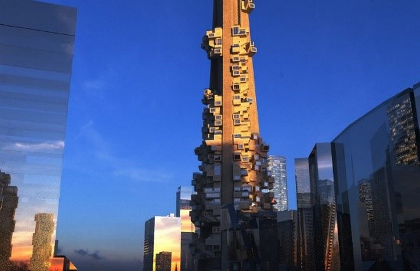 Parasitic CN Tower, Canada - Sheet1