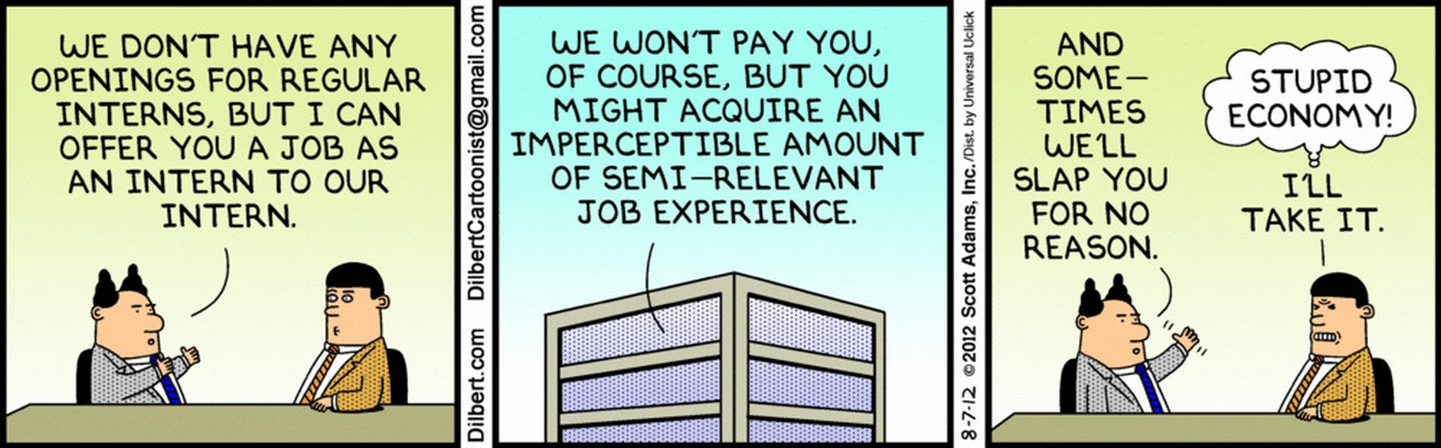 What does the practice of Unpaid Internships Signify to Budding Architecture - Sheet1