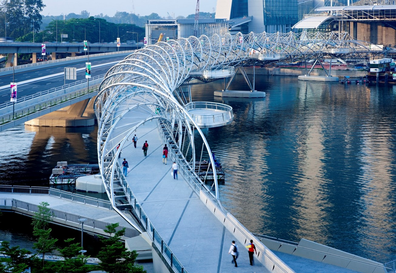 Architecture in Singapore - Helix Bridge - Sheet1