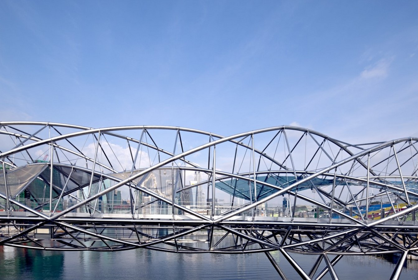 Architecture in Singapore - Helix Bridge - Sheet2
