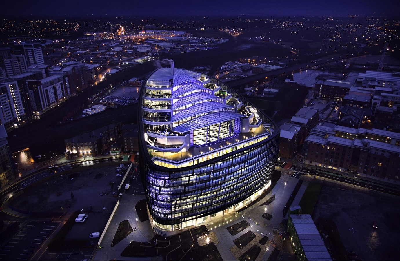 One Angel Square by 3DReid: Largest commercial office building in Manchester - Sheet1