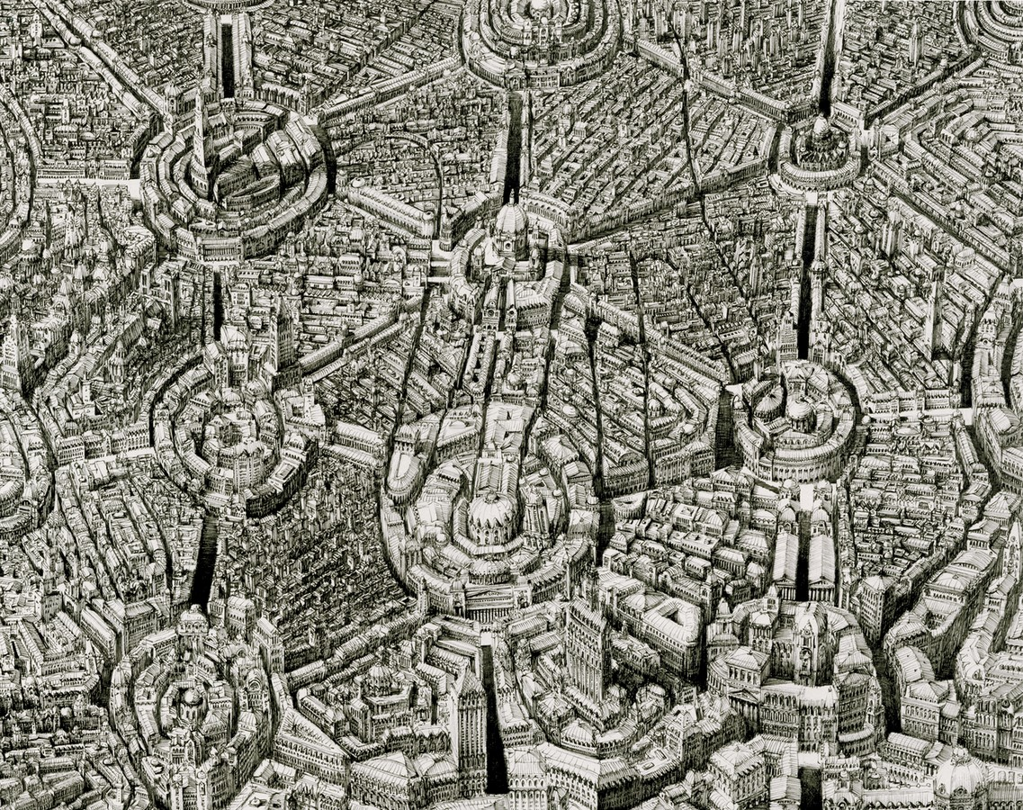 Artist Benjamin Sack and abstraction of cityscapes - Sheet1