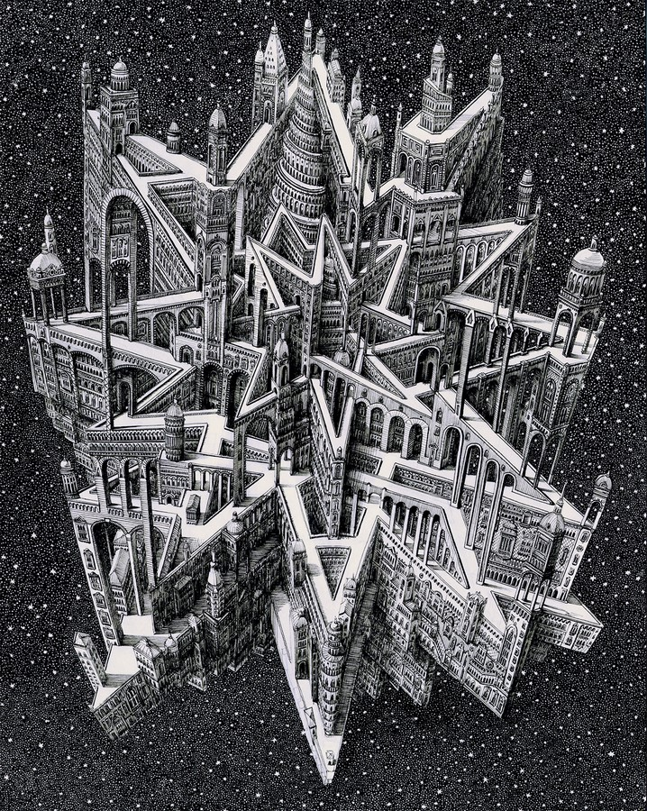 Artist Benjamin Sack and abstraction of cityscapes - Sheet