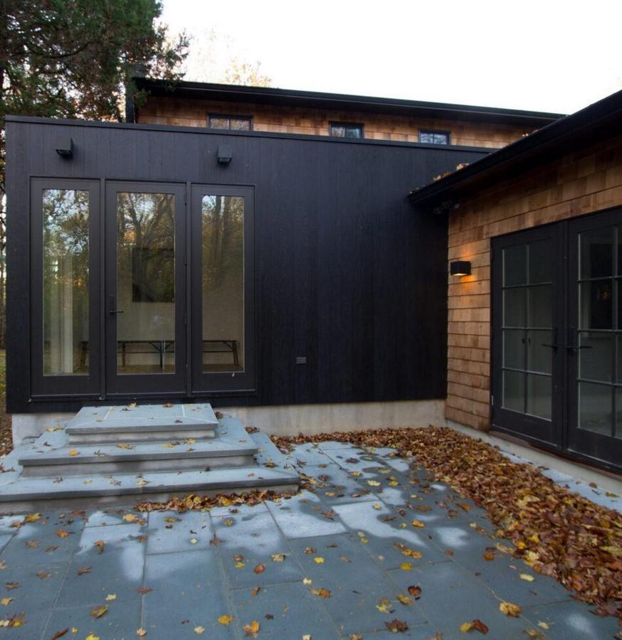 Modern Home Using Charred Wood by Resawn, New York - Sheet1