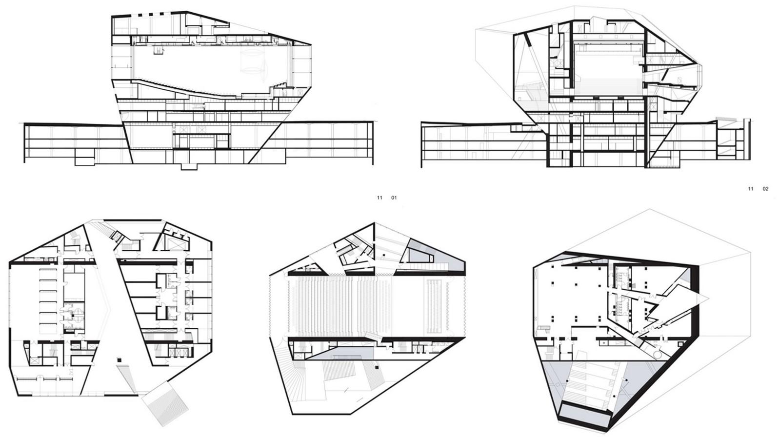Casa Da Musica, Porto by Rem Koolhaas: The Asymmetrical Polyhedron - Sheet12