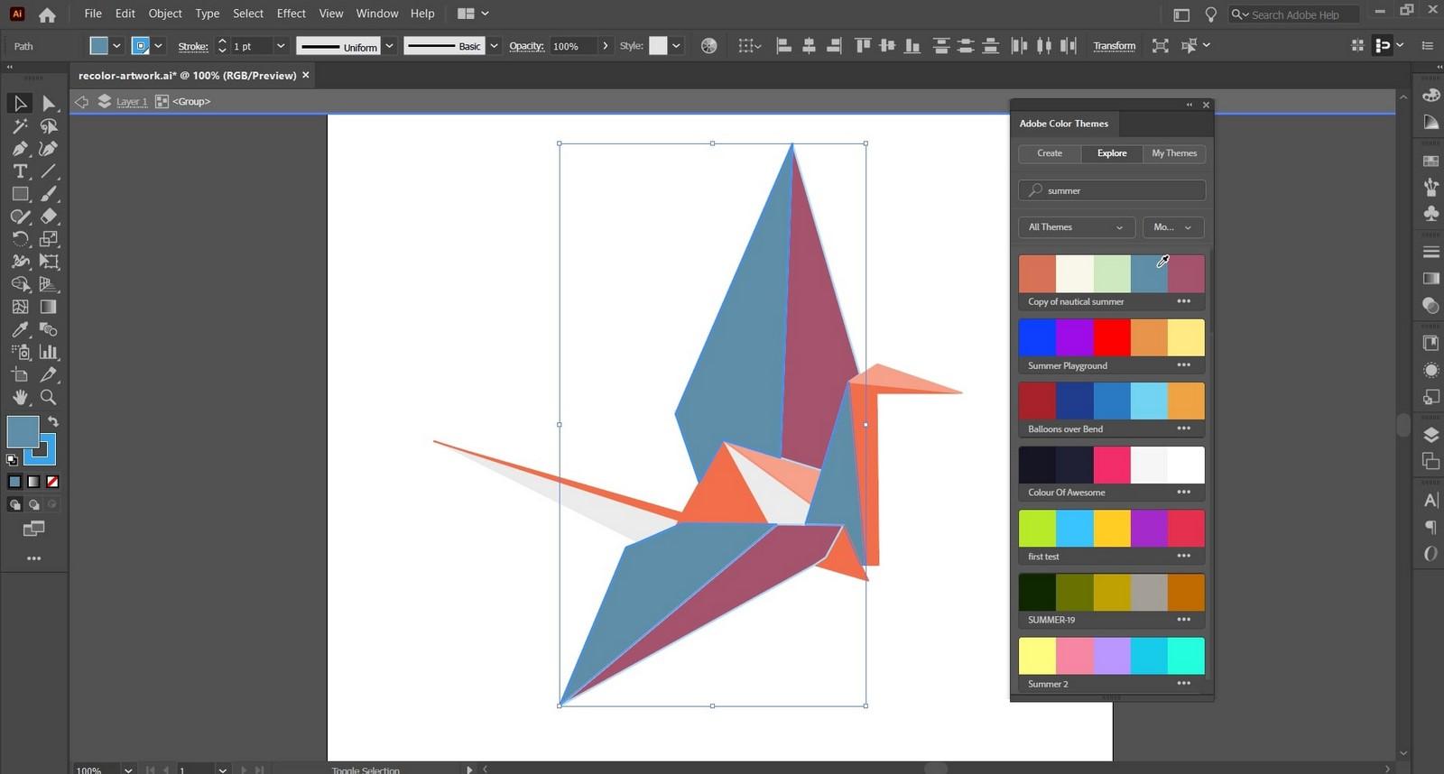 Adobe Color Themes - Sheet2
