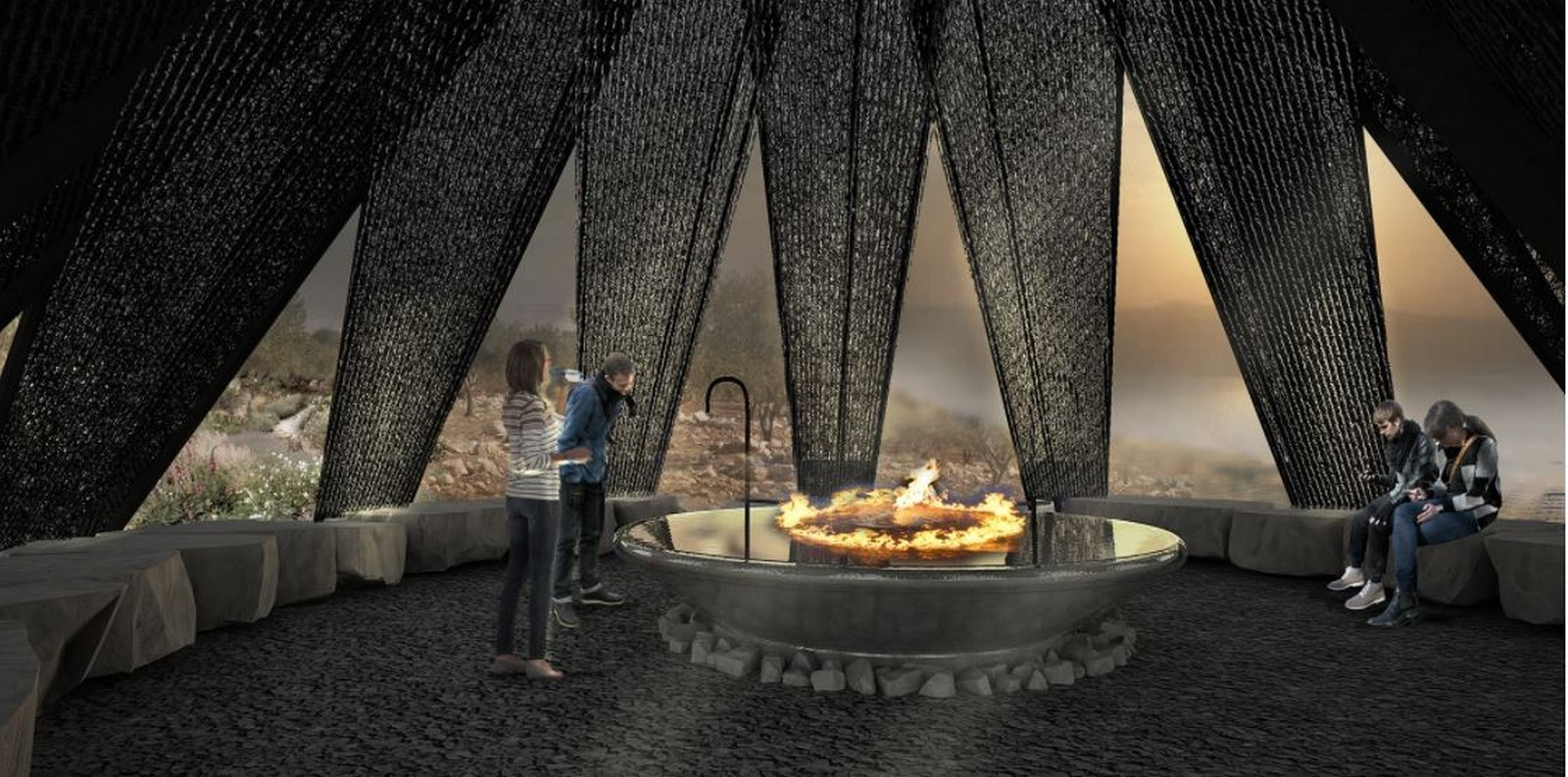 Nomad pavilion by Dina Haddadin and Rasem Kamal: Shelter and Water collection unit in Jordanian desert - Sheet16