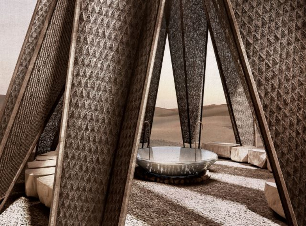 Nomad pavilion by Dina Haddadin and Rasem Kamal: Shelter and Water collection unit in Jordanian desert - Sheet17