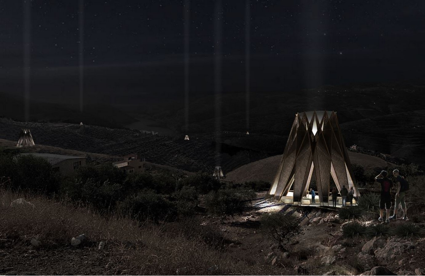 Nomad pavilion by Dina Haddadin and Rasem Kamal: Shelter and Water collection unit in Jordanian desert - Sheet1