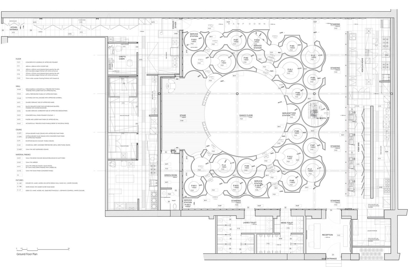 The Blue Frog Acoustic Lounge by Serie Architects: A cellular organization of circles - Sheet4