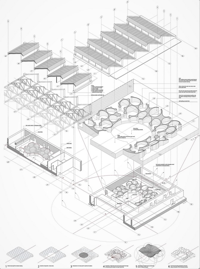 The Blue Frog Acoustic Lounge by Serie Architects: A cellular organization of circles - Sheet6