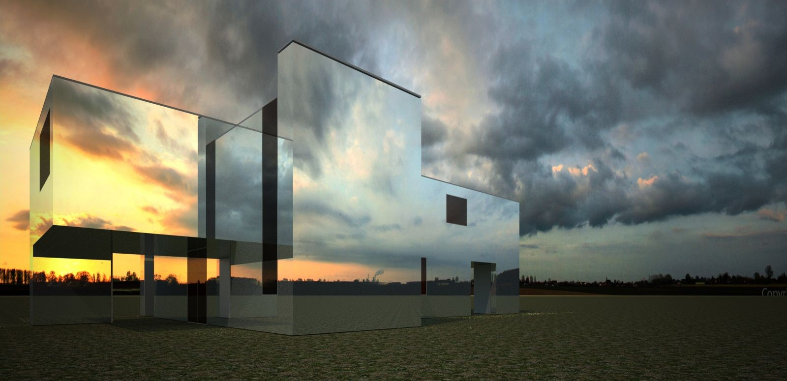Mirror House by Pedro Joel Costa: The invisible building - Sheet1