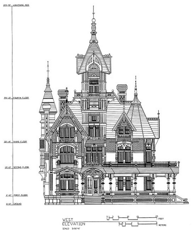 Carson Mansion, California, USA - Sheet2