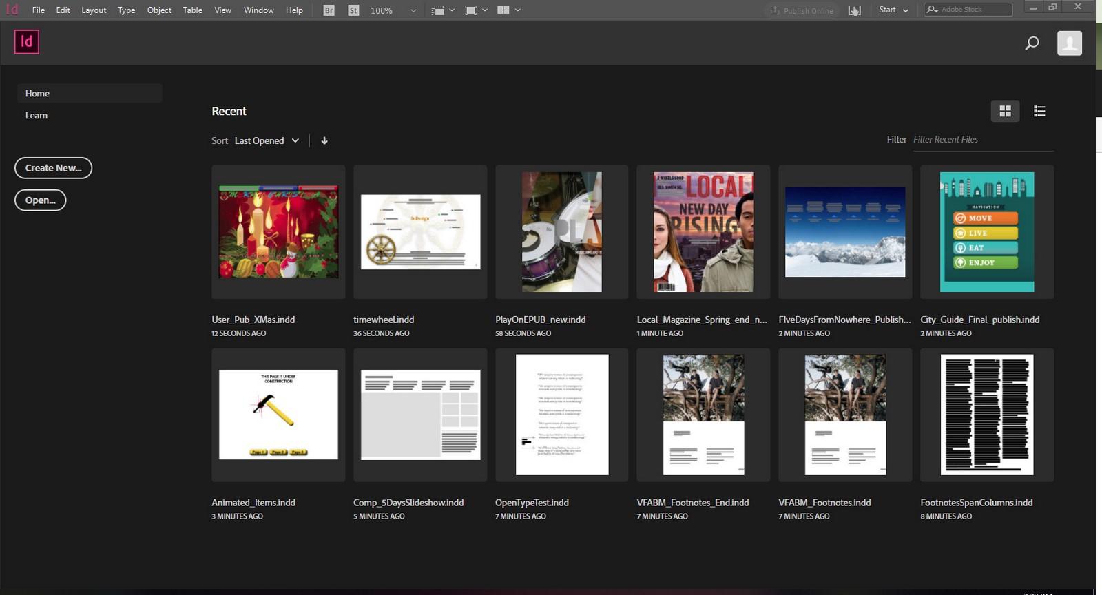 Adobe Indesign Sheet2