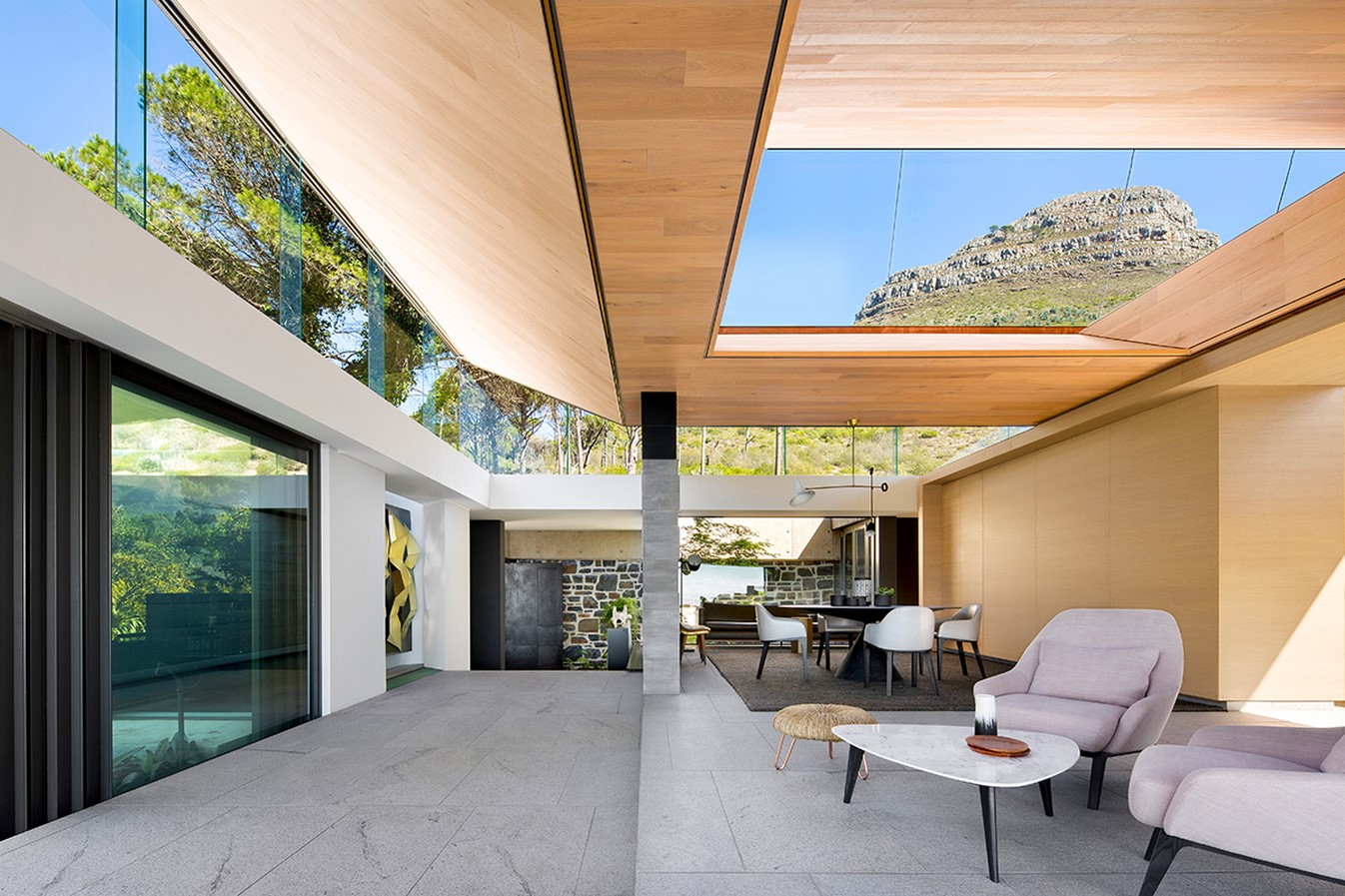 House with an inverted pyramid by SAOTA - Sheet1