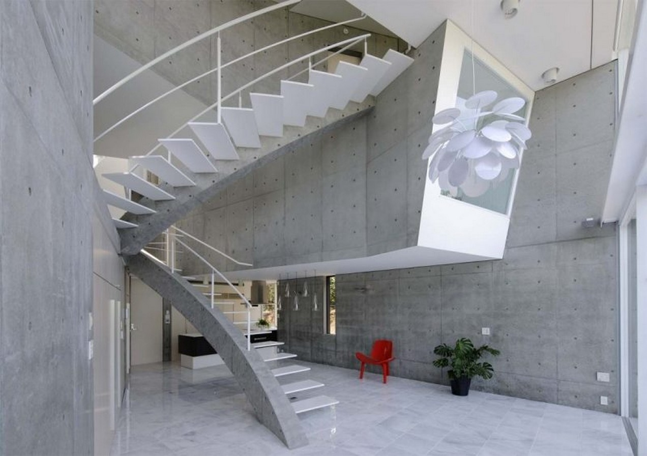 25 Concrete Staircases for Small Houses - sheet24