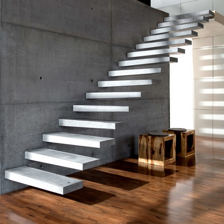 25 Concrete Staircases for Small Houses - sheet5