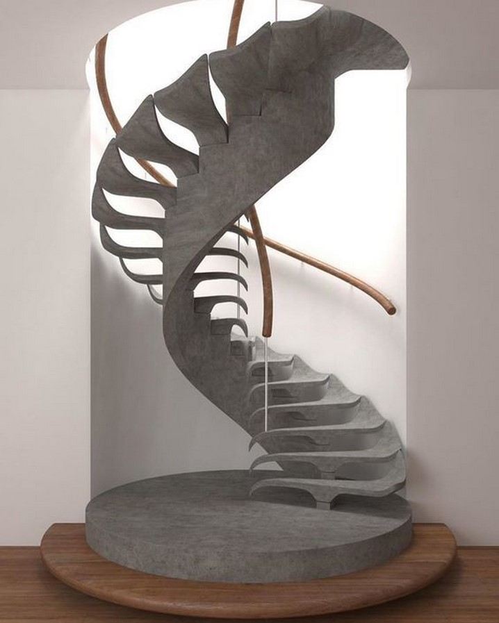 25 Concrete Staircases for Small Houses - sheet8