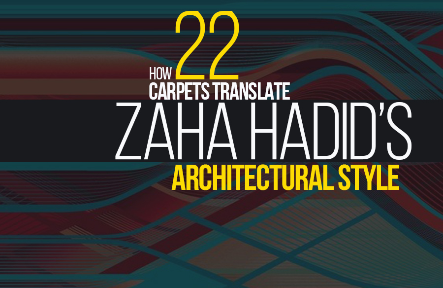 How 22 carpets translate Zaha Hadid's architectural style