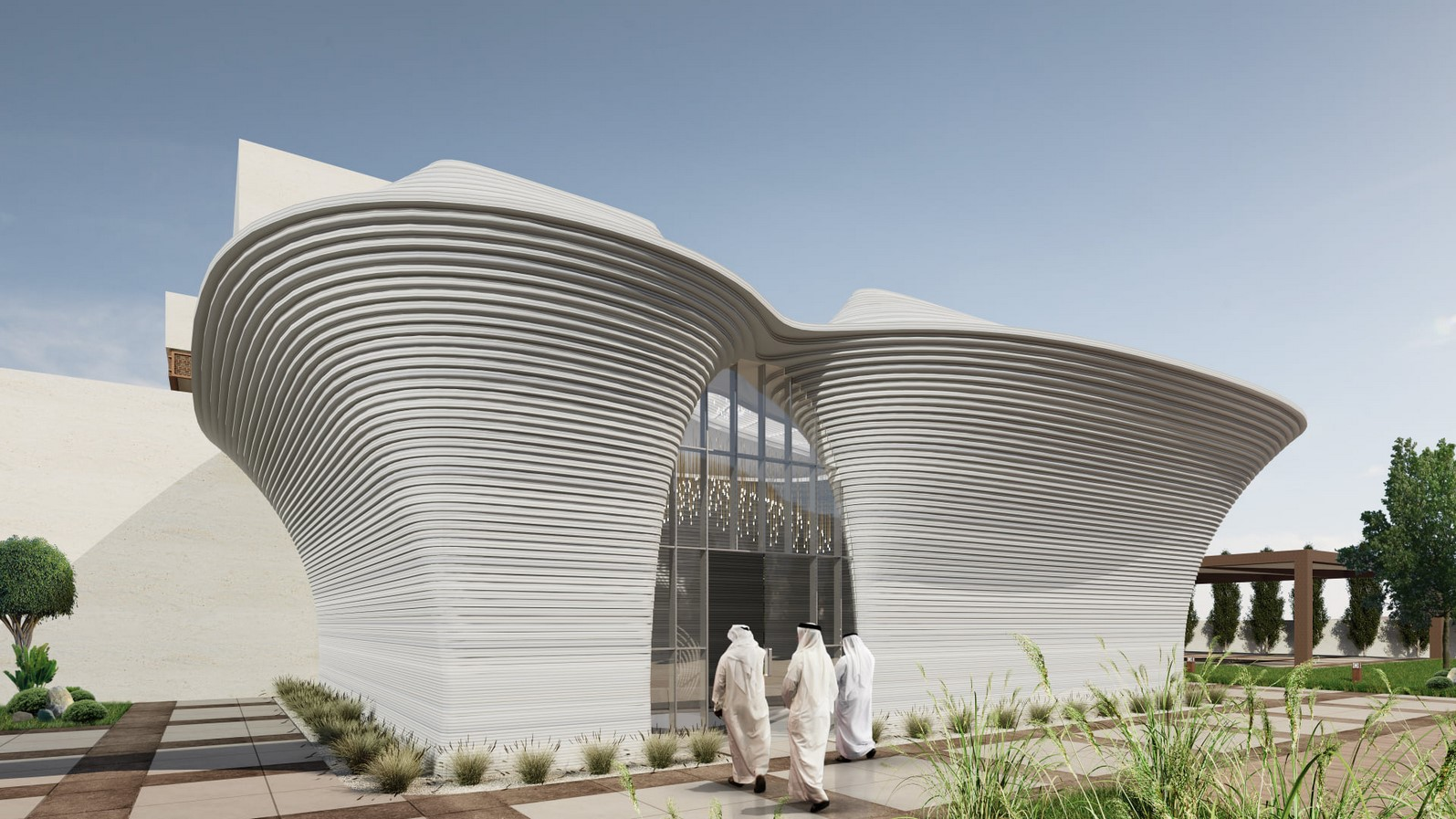 Modular 3D-Printed Majlis House With Smooth Concrete Walls In Abu Dhabi designed by MEAN* - Sheet5